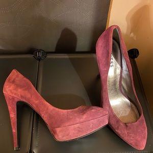 Guess Maroon Heels